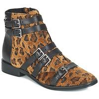 Schuhe Damen Boots Le Temps des Cerises IZY Leopard