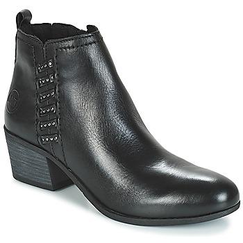 Schuhe Damen Low Boots Marco Tozzi HISSU Schwarz