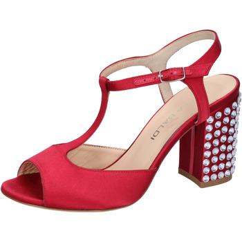 Schuhe Damen Sandalen / Sandaletten Lella Baldi sandalen rot satin strass AH826 rot