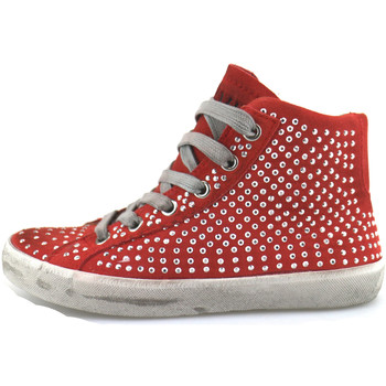 Schuhe Mädchen Sneaker High Crime London sneakers rot wildleder strass AH982 rot