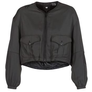 Kleidung Damen Jacken G-Star Raw RACKAM OS CROPPED BOMBER Schwarz