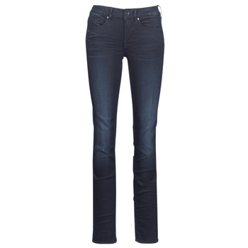 Kleidung Damen Straight Leg Jeans G-Star Raw MIDGE MID STRAIGHT Blau / Dark