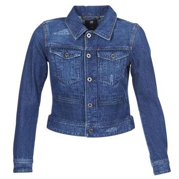 Kleidung Damen Jeansjacken G-Star Raw D-STAQ DC DNM Blau /  sato