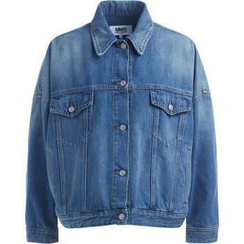 Kleidung Damen Jacken Mm6 Maison Margiela Jeansjacke Cocoon in Denimblau Blue