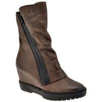 Schuhe Damen Low Boots Janet&Janet Doppelreißverschluss halbstiefel Grau