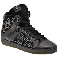 Schuhe Damen Sneaker High Janet&Janet Mitte Zip sportstiefel Schwarz