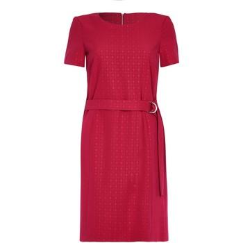 Kleidung Damen Kurze Kleider Anastasia Kurzärmliges Kleid mit Gürtel Red