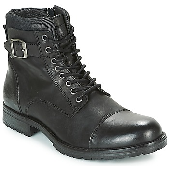 Schuhe Herren Boots Jack & Jones ALBANY LEATHER Schwarz