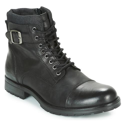 Jack & Jones ALBANY LEATHER Schwarz  Schuhe Boots Herren 99,99