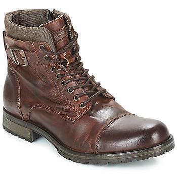 Schuhe Herren Boots Jack & Jones ALBANY LEATHER Braun