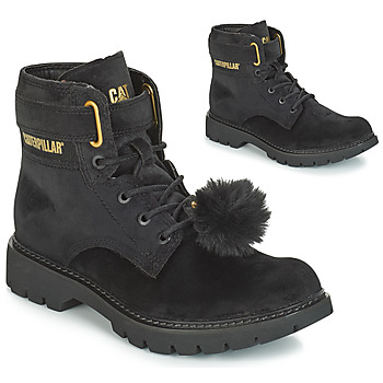 Schuhe Damen Low Boots Caterpillar CONVERSION VELVET Schwarz