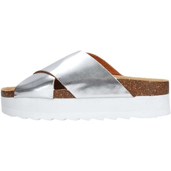 Schuhe Damen Pantoffel Colors of California HC.BES06 Slipper Damen Silber Silber