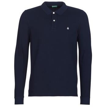 Kleidung Herren Langärmelige Polohemden Benetton MAZARRI Marine