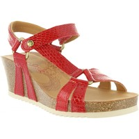 Schuhe Damen Sandalen / Sandaletten Panama Jack VIOLETTA SNAKE CHAROL B1 Rojo