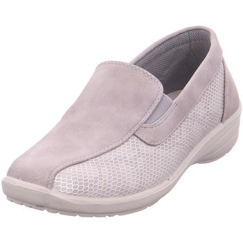 Schuhe Damen Slipper Hengst Ladies Comfort Shoes LiGrey Light Grey