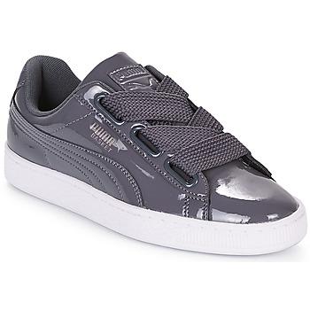 Schuhe Damen Sneaker Low Puma WN BASKET HEART PATENT.IRO Schwarz / grau / rot