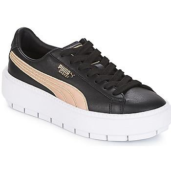 Schuhe Damen Sneaker Low Puma WN PLATFORM TRACE BSQT.BLK Schwarz