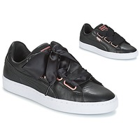 Schuhe Damen Sneaker Low Puma WN SUEDE HEART LEATHER.BLA Schwarz