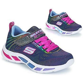 Schuhe Mädchen Sneaker Low Skechers LITEBEAMS Navy