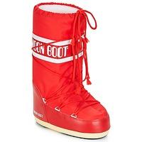 Schuhe Damen Schneestiefel Moon Boot NYLON Rot