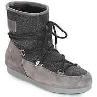 Schuhe Damen Schneestiefel Moon Boot FAR SIDE LOW SUEDE GLITTER Schwarz / Grau
