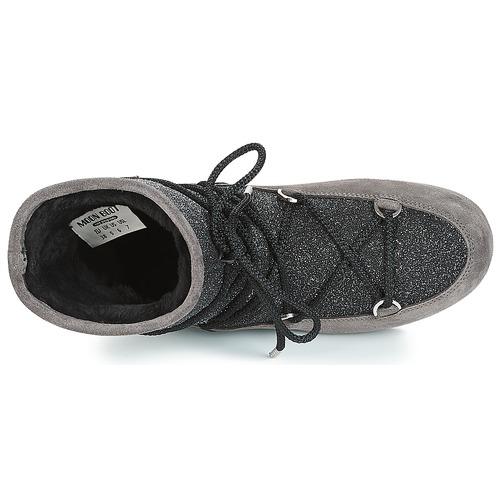 Moon SUEDE Boot FAR SIDE LOW SUEDE Moon GLITTER Schwarz / Grau  Schuhe Schneestiefel Damen 199,90 c15555