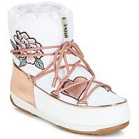 Schuhe Damen Schneestiefel Moon Boot PEACE & LOVE WP Weiss / Rose / Gold