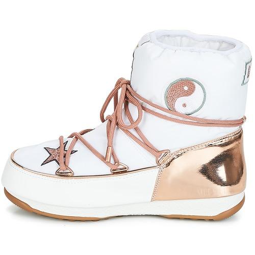 Moon Boot PEACE & LOVE WP Weiss / Rose / Damen Gold  Schuhe Schneestiefel Damen / 309 798978