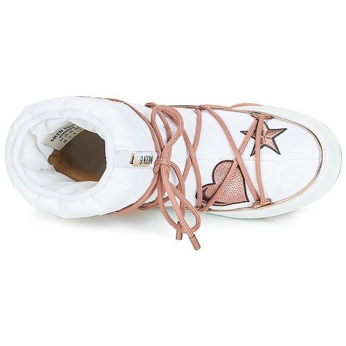 Moon Boot PEACE & LOVE WP Weiss / Rose / Damen Gold  Schuhe Schneestiefel Damen / 309 b1e116