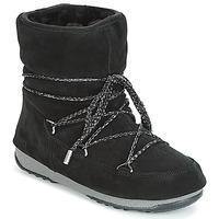 Schuhe Damen Schneestiefel Moon Boot LOW SUEDE WP Schwarz