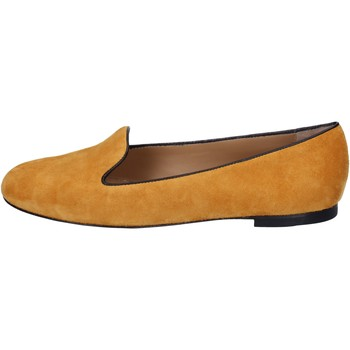 Schuhe Damen Ballerinas Bally mokassins gelb senape wildleder BY02 gelb