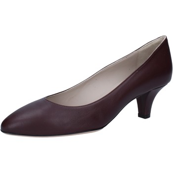 Schuhe Damen Pumps Bally pumps burgund leder BY12 rot
