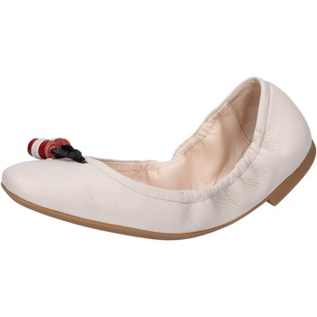 Schuhe Damen Ballerinas Bally Shoes ballerinas beige leder BY32 beige