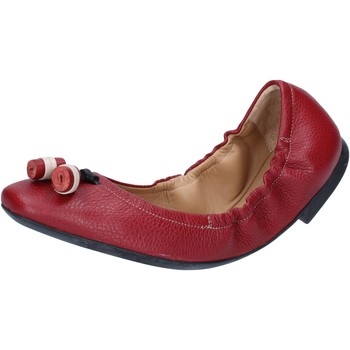 Schuhe Damen Ballerinas Bally Shoes ballerinas rot leder BY33 rot