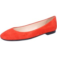 Schuhe Damen Ballerinas Bally ballerinas orange wildleder BY35 orange