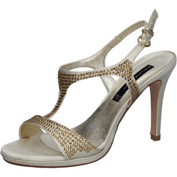 Schuhe Damen Sandalen / Sandaletten Bacta De Toi sandalen platin satin strass BY95 andere
