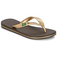 Schuhe Damen Zehensandalen Ipanema CLASSICA BRASIL II Braun / Gold