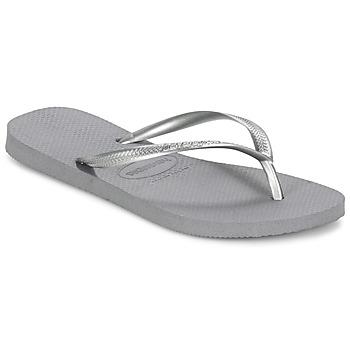 Schuhe Damen Zehensandalen Havaianas SLIM Grau