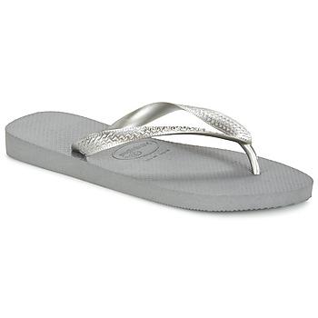 Schuhe Damen Zehensandalen Havaianas TOP METALLIC Grau