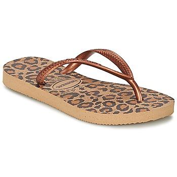 Schuhe Mädchen Zehensandalen Havaianas SLIM ANIMALS Bronze