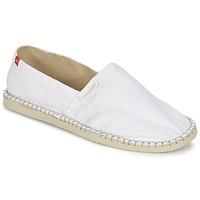Schuhe Leinen-Pantoletten mit gefloch Havaianas ORIGINE II Weiss