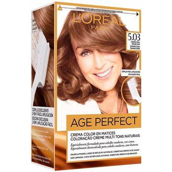 Beauty Damen Haarfärbung L'oréal Excellence Age Perfect Tinte 5,03-castaño Claro Dorado