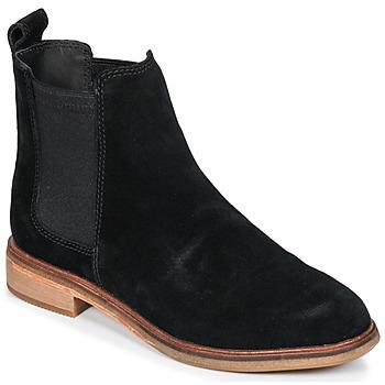 Schuhe Damen Boots Clarks CLARKDALE Schwarz