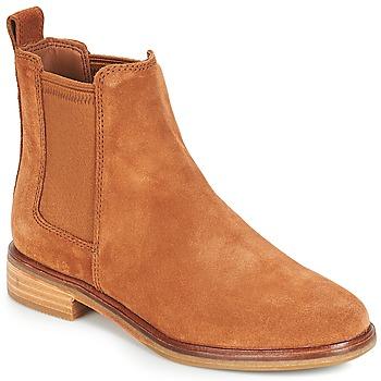 Schuhe Damen Boots Clarks CLARKDALE Camel