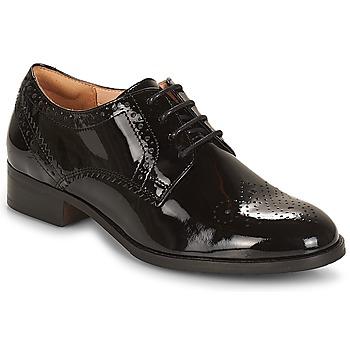 Schuhe Damen Derby-Schuhe Clarks NETLEY Schwarz / Sehr dunkles grün