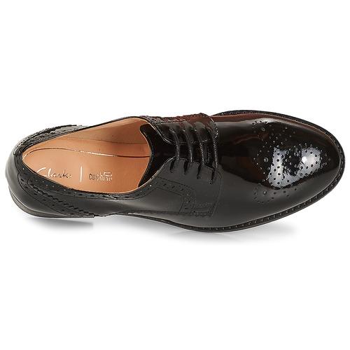 Clarks NETLEY Schwarz / Sehr dunkles grün Schuhe Derby-Schuhe Damen 109