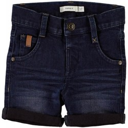 Kleidung Jungen Shorts / Bermudas Name It Kids NMMSOFUS DNMCOMO 1014/3012 LONG SHO CAMP Blue