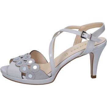 Schuhe Damen Sandalen / Sandaletten Olga Rubini sandalen grau lack wildleder BY358 grau