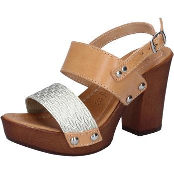 Schuhe Damen Sandalen / Sandaletten Made In Italia sandalen platin leder braun BY516 braun
