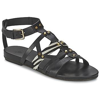 Schuhe Damen Sandalen / Sandaletten Vic GINKO ACHANTUS Schwarz